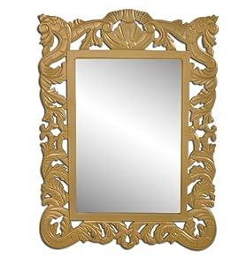 Specchio specchi a muro specchio a parete con cornice quadrata legno color oro casa - Specchi da parete amazon ...