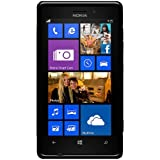 Amzer TPU Hybrid Case Cover for Nokia Lumia 925 - Solid Black