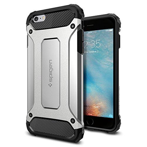 Spigen iPhone6s Plus ケース / iPhone6 Plus ケース, タフ・アーマー テック [ エアクッションテクノロジー ] アイフォン6s プラス / 6 プラス 用 米軍MIL規格取得 耐衝撃カバー (サテン・シルバー SGP11748)