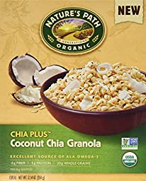 Nature\'s Path Organic Chia Plus Coconut Chia Granola Cereal (Pack of 2 12.34-Ounce Boxes)