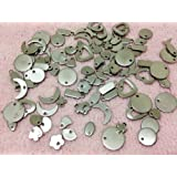 20pc Assorted Stainless Steel Stamping Blanks Circles Moons Hearts Rectangles...