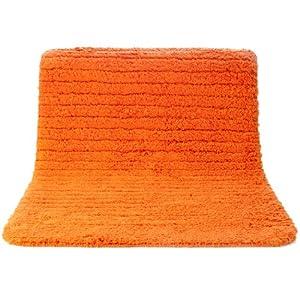 Infinity non slip bath mat orange 50x70 cm kitchen home - Orange kitchen floor mats ...