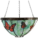 Toland Home Garden Butterfly 14-Inch 2-Gallon Decorative Insulated Hanging Art Planter Basket 202023