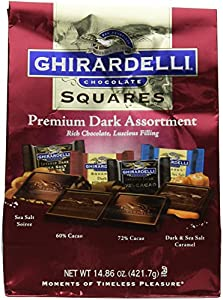 Ghirardelli Dark Assorted Sqaures XL Bag, 14.86 Ounce