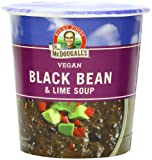 Dr. McDougall's Right Foods Vegan Black Bean & Lime Soup, 3.4-Ounce Cups (Pack of 6)