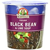 Dr. McDougall's Right Foods Vegan Black Bean & Lime Soup, 3.4-Ounce Cups (Pack of 6) ~ Dr. McDougall's