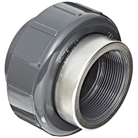 Spears 8059-SR Series PVC Pipe Fitting, Union with Viton O-Ring