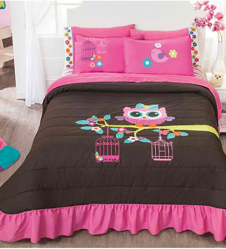 Full Size Owl Bedding 1600 front