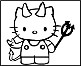 8 Inch Vinyl Decal - Hello Kitty Devil - Car Truck Notebook Laptop iPod iPad
