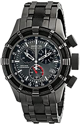 Invicta Men's 5629 Reserve Collection Black and Gun Metal Ion-Plated Chronograph Watch