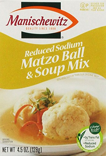 MANISCHEWITZ Reduced Sodium Matzo Ball & Soup Mix, 4.5-Ounce Boxes (Pack of 6) (Matzo Ball Soup Mix compare prices)