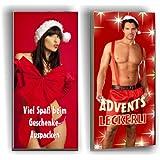 2 x Weihnachts-Schokolade SEXY für SIE und IHN, Vollmilch/Zartbitter