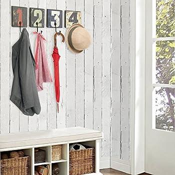 Decorative Vintage Rustic Style Numbers Design Wall Mounted Wood & Metal Hanging Storage Organizer Hooks