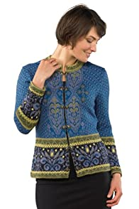 Tey-Art Zurich Jacquard Fair Trade Alpaca Cardigan