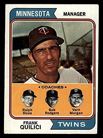 Amazon.com: 1974 Topps 447 Frank Quilici / Ver Morgan / Bob Rodgers