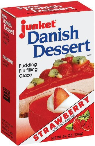 Junket Danish Dessert Strawberry, 4.75 Oz