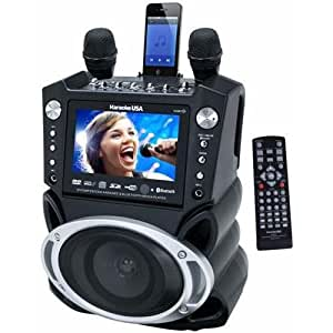 JS Karaoke Jskaraoke Gf830 DVD/CD+G/MP3+G Bluetooth Karaoke System with 7 TFT Color Screen and Record Function
