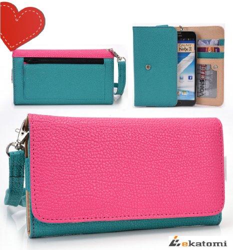 [Xl Metro] Blue Green & Magenta | Universal Phone Case Wrist-Let Clutch Women'S Wallet For Apple Iphone 6 Plus. Bonus Ekatomi Screen Cleaner front-1055240