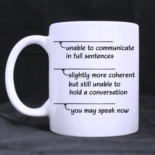 Popular Funny Sarcasm Office Gift You May Speak Now Theme Coffee Mug Or Tea Cup,Ceramic Material Mugs,White - 11 Oz