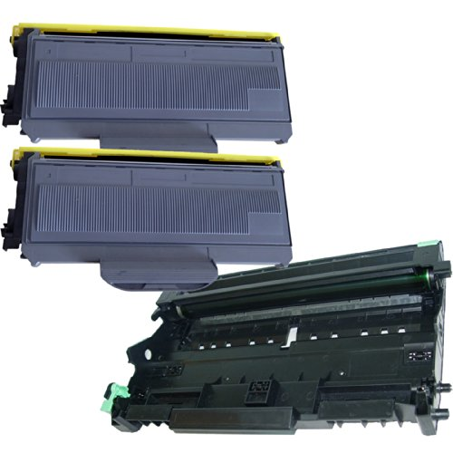 (1 Drum + 2 Toner) Inktoneram® Replacement Toner Cartridges & Drum For Brother Tn330 Dr360 Toner Cartridges & Drum Replacement For Brother Dr-360 Tn-330 Set