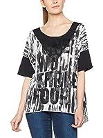 Dimensione Danza Camiseta Manga Corta (Blanco / Negro)