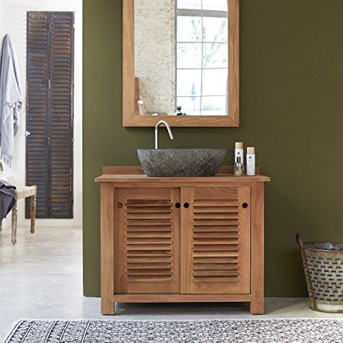 Inspirational Solid Teak Wood Vanity Cabinet Wash stand Modern Design Bathroom Furniture