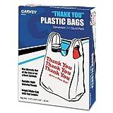 """Thank You"" Bags, Printed, Plastic, 11.5 X 6.5 X 22 - .55 mil, White"