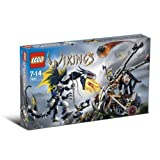 Lego Vikings Set #7021 Double Catapult Versus The Armored Ofnir Dragon
