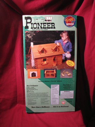 Pioneer Real Wood Log Cabin Dollhouse for boys and girls