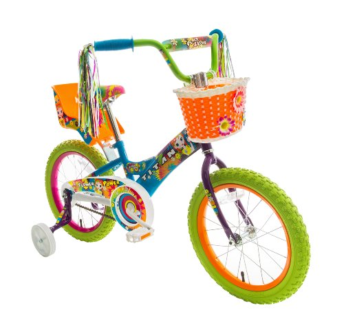 Titan 083-8416 Girls Flower Power Princess BMX Bike, Multi Color, 16-Inch