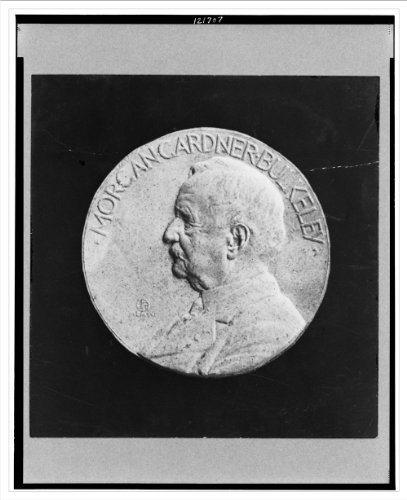Historic Print (L): [Bronze Medal Of Head-And-Shoulders Portrait Of