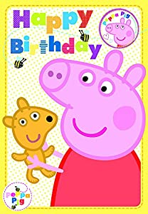 Amazon.com: Peppa Pig Birthday Card - Happy Birthday (With Safety