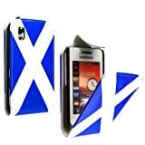 FOR SAMSUNG TOCCO LITE S5230 SCOTLAND FLAG SCOTTISH FLAG PRINT LEATHER FLIP CASE COVER POUCH