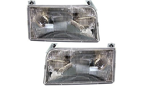 Evan-Fischer EVA13572054828 New Direct Fit Headlight Head Lamp Set of 2 Composite Clear Lens Halogen With Bulb(s) Driver and Passenger Side Replaces Partslink# FO2503114, FO2502118 (Headlight Assembly Bronco compare prices)