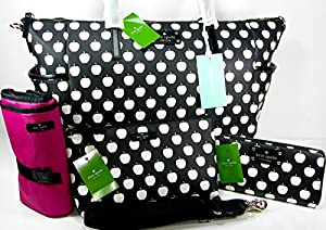 Kate Spade Baby Diaper Bag Purse Tote, Wallet, Make Up Case, Changing Pad, Strap 5 Piece Matching Set from Kate Spade