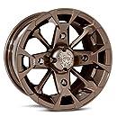 "MotoSport Alloys M17 Elixir Bronze Wheel 14x7 ATV Wheel UTV Wheel (14x7""/4x110)"