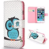 Sleeping Owl Apple Iphone 6 Wallet Case Leather - Best Iphone 6 Case Wallet for Men and Women, Made of High Quality Leather, Perfect Iphone 6 Flip Case