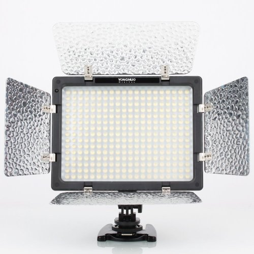 Yongnuo Professional Led Video Light Flash Yn300 With 300Pcs Lamps, 4 Color Sheets For Dslr Camera Canon Eos