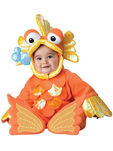 UHC Giggly Goldfish Jumpsuit Infant Toddler Funny Theme Halloween Costume, 18M-2T (Kids Giggly Goldfish Costume)