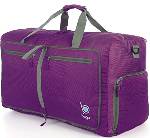 Sports Duffle Bag for Gym Gear or travel - with shoes pocket - 23'' (Medium, Purple) (Wheel Cover Spinner compare prices)