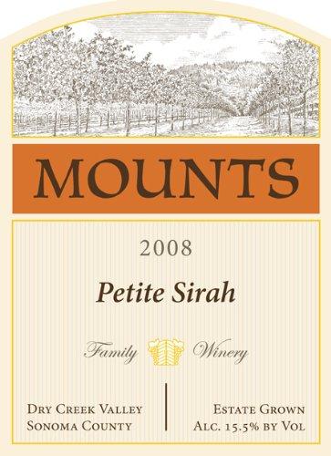 2008 Mounts Winery Estate Petite Sirah Dry Creek Valley 750 Ml