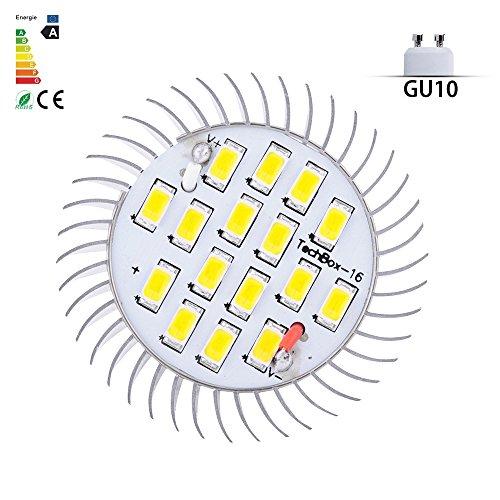 Vlunt 8W Smd Led Spot Light Bright Lamp Bulb Warm White Gu10 E14 E27 16X5630 Smd