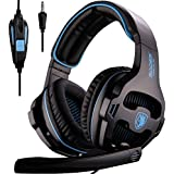 [2016 New Version Headset For PS4 PC] SADES 810S Gaming Headset Headphones For PlayStation4 PS4 PC Laptop MAC...
