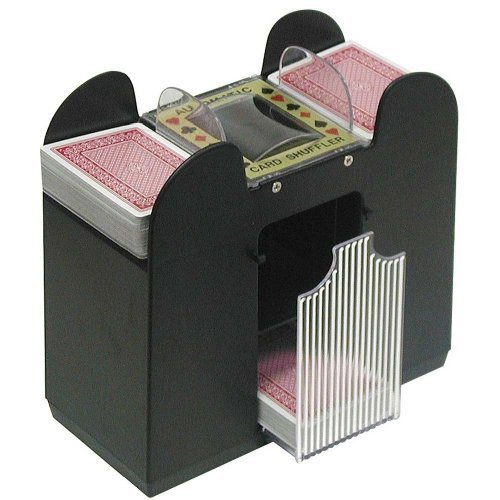 Casino Poker 6-Deck Automatic Card Shuffler:   Birthday Gift for Guys