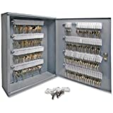 S.P. Richards Company Secure Key Cabinet, 16-1/2 x 4-7/8 x 20-1/8 Inches, 160 Keys, Gray (SPR15605)
