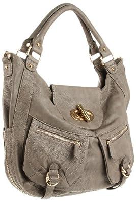Melie Bianco Alyssa W10-75 Slouchy Shoulder Bag,Grey,one size