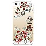 Hovisi® iPhone 5/5S/5SE 保護ケース シリコン バンパー ソフト TPU 衝撃吸収 スリム 軽量 傷防止 ピッタリフィット かわいい (桜)