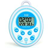 HITO Multifunction LCD Bathroom Shower Clock Timer w/ Temperature(C/F) (Blue)