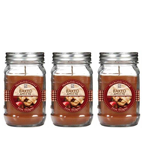 hosley-premium-set-of-3-baked-apple-jar-candle-11oz-each-bulk-buy-great-gift-weddings-party-aromathe