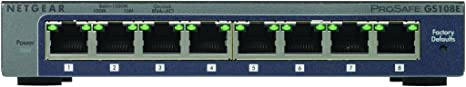 NETGEAR Switch 8 ports Gigabit manageable Niv.2